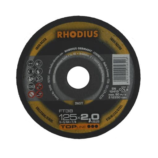 DOORSLIJPSCHIJF RHODIUS® ⌀125MM x 2MM